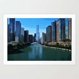 Chicago River Skyline Art Print