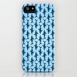 Pattern: Great White Shark  ~ Light Blue ~ (Copyright 2015) iPhone Case