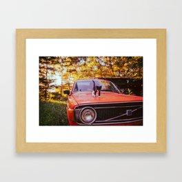 '73 volvo 145 ft. purry fluffball Framed Art Print