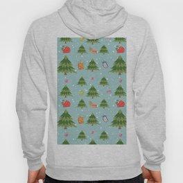 Christmas Elements Christmas Trees Design Hoody