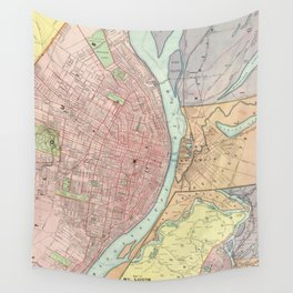 Vintage Map of St Louis MO (1897) Wall Tapestry