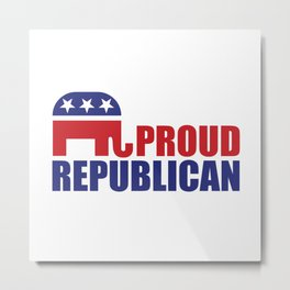 Proud Republican Elephant Design Metal Print
