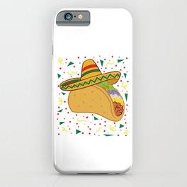 "Mexican themed Top Garment Apparel ""Taco Hat Vegetable Nachos Quesadillas"" T-shirt Design Mexico iPhone Case"