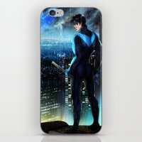 nightwing iPhone & iPod Skins featuring Nightwing by Cielo+