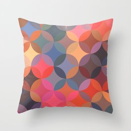 Moroccan pattern multicolor Throw Pillow