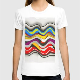 Colored Waves T-shirt