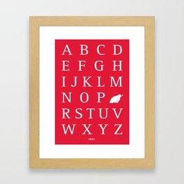 Q/Quail Framed Art Print