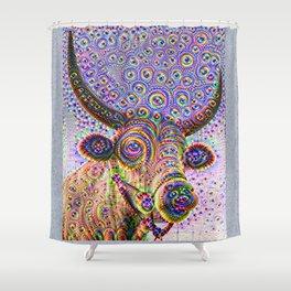 Jeweled Bull Shower Curtain