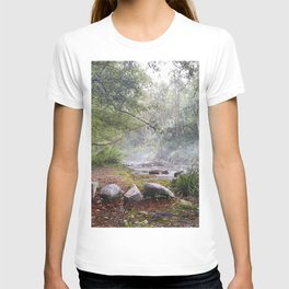 Dream foggy Morning . At The Mountains T-shirt