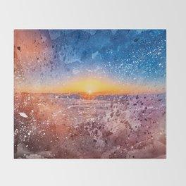 Acrylic San Francisco Sunrise Throw Blanket