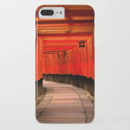 Walk through the red path iPhone Case