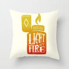 Light my Fire V2 Throw Pillow