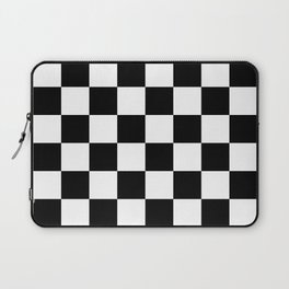 Black & White Checkered Pattern Laptop Sleeve