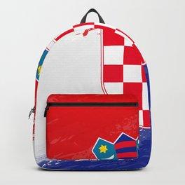 Croatia's Flag Design Backpack