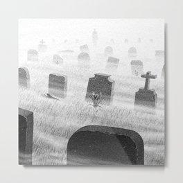 Drawlloween 2015: Grave Metal Print