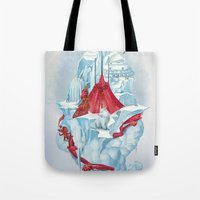 ice Tote Bags featuring ice  by Tanya_tk