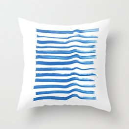 Corrida do Mar Throw Pillow