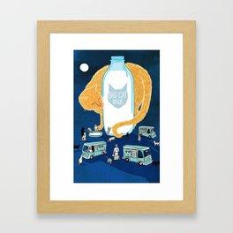 Big Cat Milk Framed Art Print