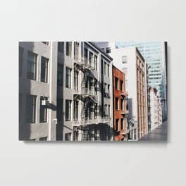 San Francisian Facades Metal Print