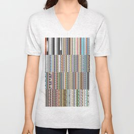 Every illustrator pattern Unisex V-Neck