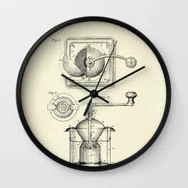 Coffee Mill-1885 Wall Clock