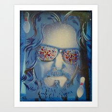 Blue Dude : The Big Lebowski  Art Print
