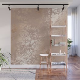 Blush Pink Textured Design with Imploded Effect Wall Mural