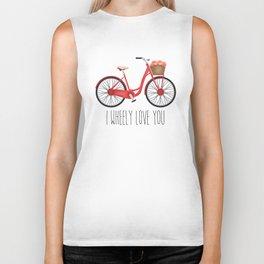 I Wheely Love You Biker Tank