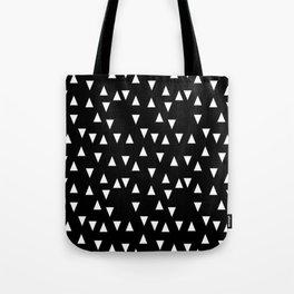 Black and white triangle desgn in minimal style Tote Bag