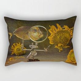 Fish and falling sunflowers Rectangular Pillow
