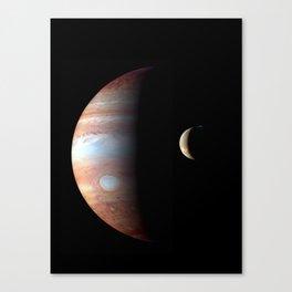 Planets Jupiter - Io Montage Print Canvas Print