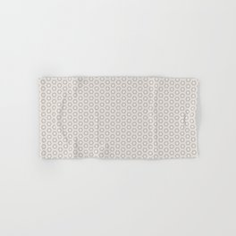 Hexagon Light Gray Pattern Hand & Bath Towel