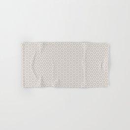 Hexagon Light Gray Pattern Hand & Bath Towel