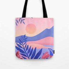Hawaiian Sunset / Tropical Landscape Tote Bag