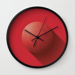Flat Planet - #1 Mars Wall Clock