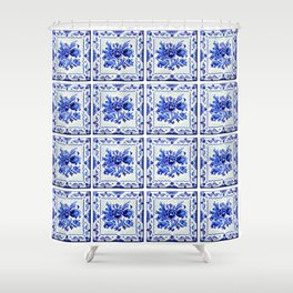 Dutchie Blues 4 Shower Curtain