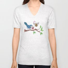 the birds and the bees Unisex V-Neck