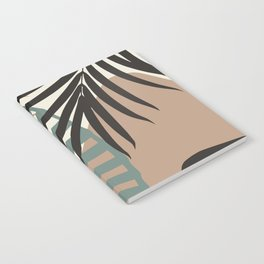 Minimal Jungle Leaves Finesse #1 #tropical #decor #art #society6 Notebook