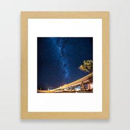 Milky Way Bridge Framed Art Print