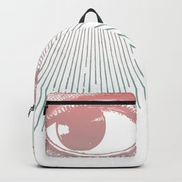 I See You. Pink Turquoise Gradient Sunburst Backpack