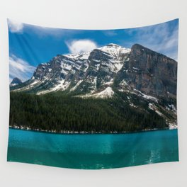 Canadian Rockies and Turquoise Waters Wall Tapestry