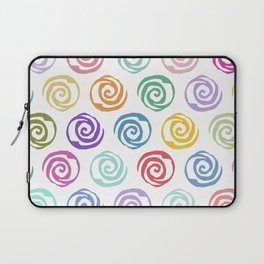 Circles Abstract Seamless Pattern Laptop Sleeve