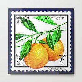 Vintage Libyan stamps Metal Print