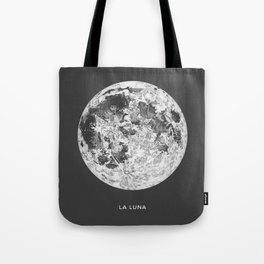 La Luna Moon Print Tote Bag
