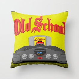 Old School 64 Throw Pillow