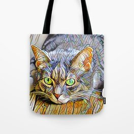 The TABBY II from our FUNK YOUR FELINE line Tote Bag