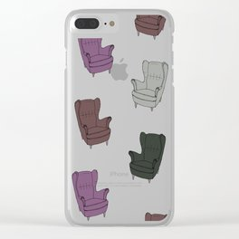 Seventies Armchair Pattern - Version 5 #society6 #seventies Clear iPhone Case