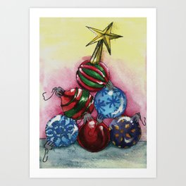 Tree of Ornaments Art Print