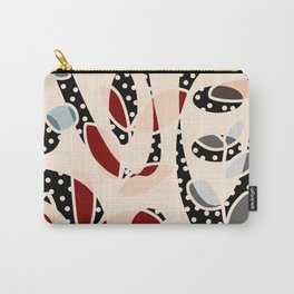Whimiscal plant polka dot pattern Carry-All Pouch