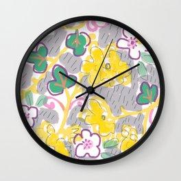 Yellow Mums Wall Clock